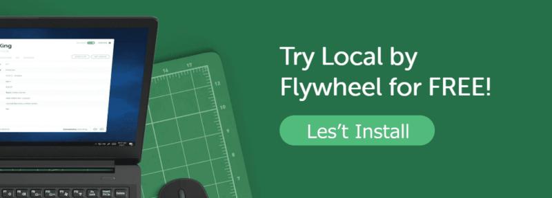 local by flywheel をインストール